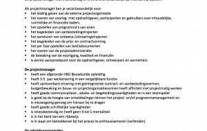 Vacature projectmanager